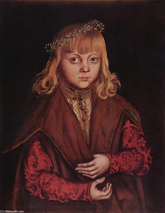 Portrait of a Saxon Prince, Oil by Lucas Cranach The Elder (1472-1553, Germany)