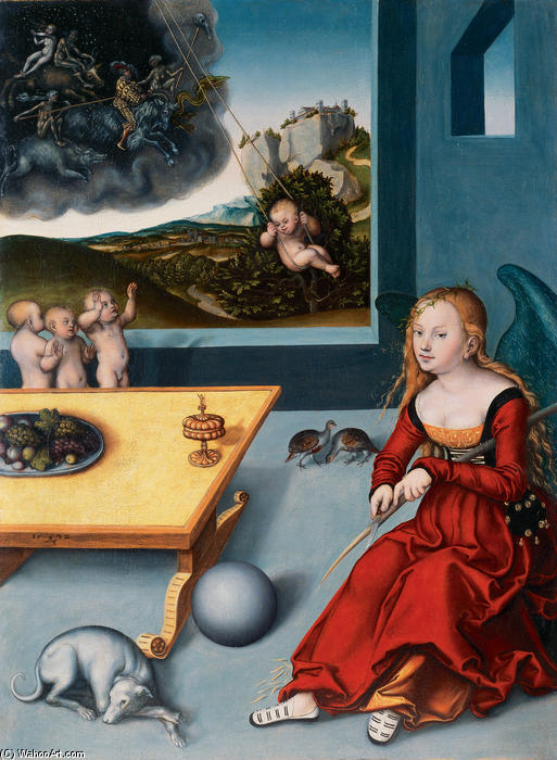 Melancholy, 1532 by Lucas Cranach The Elder (1472-1553, Germany) | ArtsDot.com