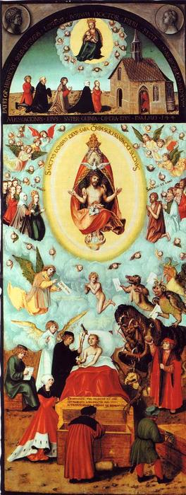 The dying man, Oil On Panel by Lucas Cranach The Elder (1472-1553, Germany)