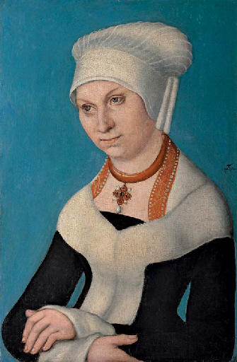 Portrait of Barbara, Duchess of Saxony, 1500 by Lucas Cranach The Elder (1472-1553, Germany)