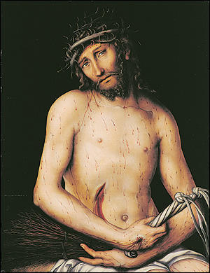 Chtist as the Man of Sorrows, 1515 by Lucas Cranach The Elder (1472-1553, Germany)