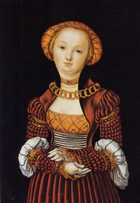 Magdalene von Sachsen, 1520 by Lucas Cranach The Elder (1472-1553, Germany) | Museum Art Reproductions | ArtsDot.com