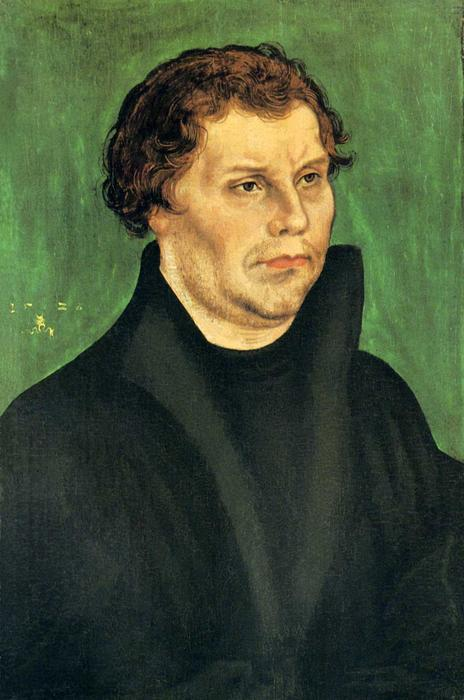 Martin Luther, 1526 by Lucas Cranach The Elder (1472-1553, Germany)
