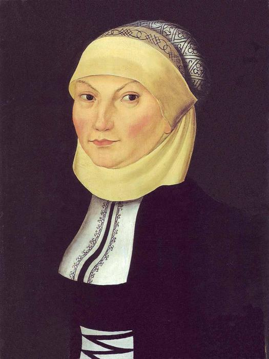 Katharina Luther, Oil On Panel by Lucas Cranach The Elder (1472-1553, Germany)
