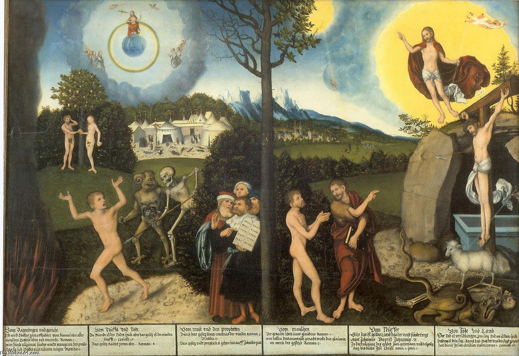 Law and Grace, 1529 by Lucas Cranach The Elder (1472-1553, Germany)