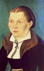 Lucas Cranach The Elder - Portrait of Katharina von Bora