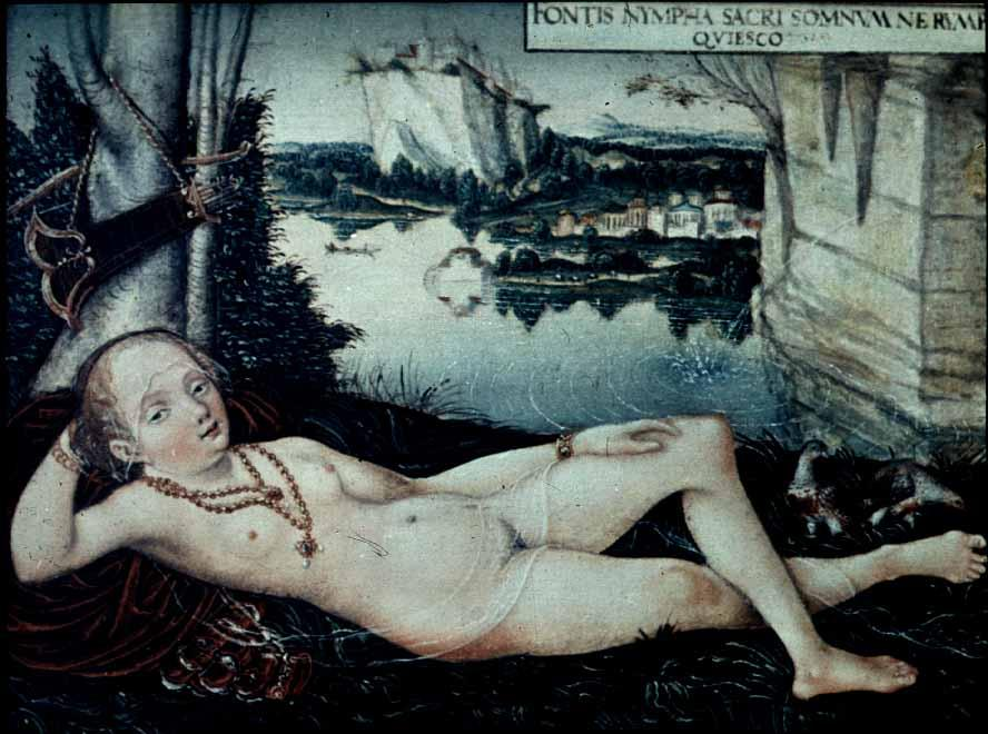 Water Nymph Resting, 1530 by Lucas Cranach The Elder (1472-1553, Germany)