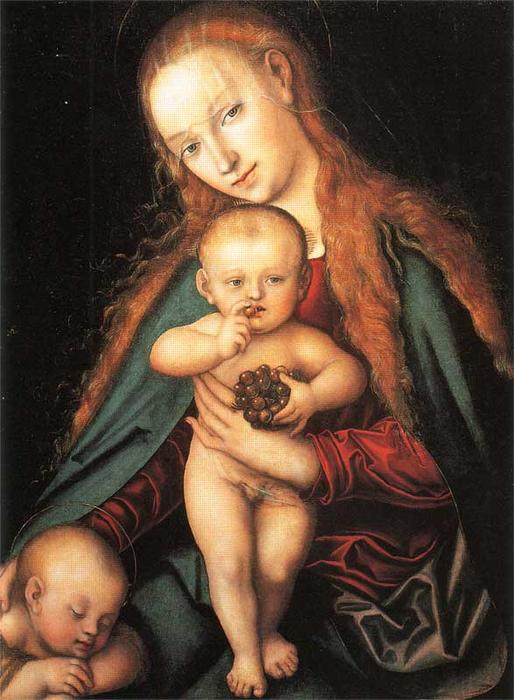 Madonna and Child, 1540 by Lucas Cranach The Elder (1472-1553, Germany)