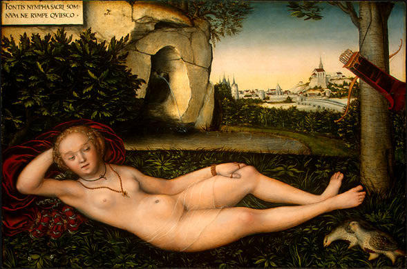 The Nymph of the Spring, 1540 by Lucas Cranach The Elder (1472-1553, Germany)