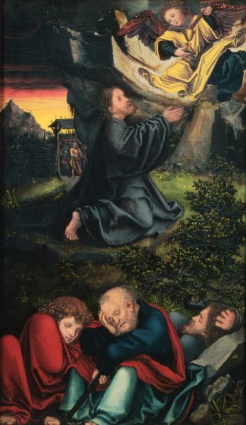 Cranach The Garden of Gethsemane by Lucas Cranach The Elder (1472-1553, Germany)