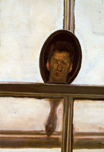 Lucian Freud - Interior with Hand Mirror (Self-Portrait)