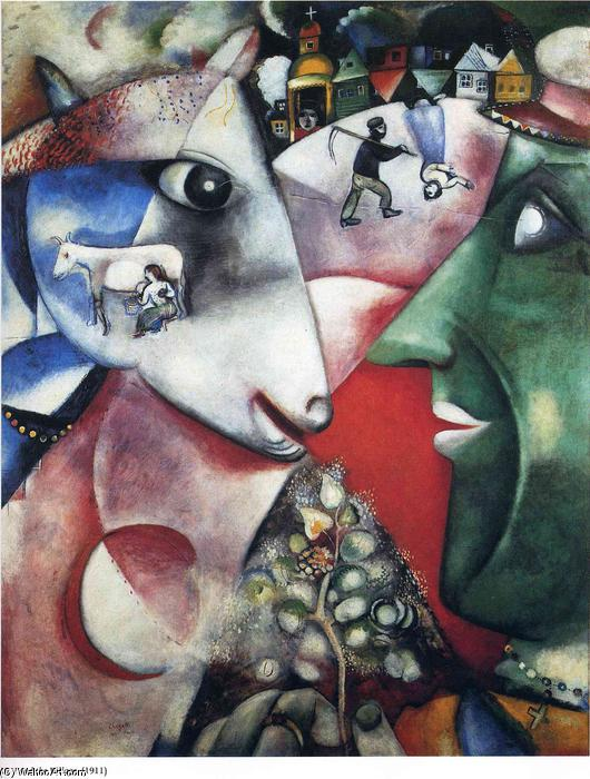 I and the Village, 1911 by Marc Chagall (1887-1985, Belarus) | Art Reproduction | ArtsDot.com