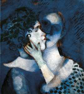 Marc Chagall - Blue Lovers