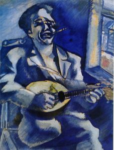 Marc Chagall - Portrait of Brother David with Mandolin