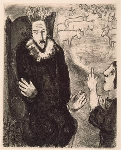 Marc Chagall - Joseph explains the dreams of Pharaoh (Genesis XLI, 25 28 32)