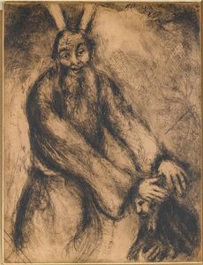 Marc Chagall - Joshua receives the blessing of Moses (Deuteronomy, XXXIV, 9)