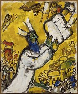 Marc Chagall - Moses receiving the Tablets of Law (9)