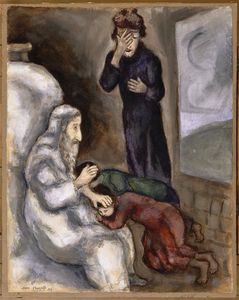 Marc Chagall - Blessing of Ephraim and Manasseh