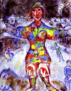 Marc Chagall - Multicolor Clown