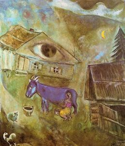 Marc Chagall - The House with the Green Eye