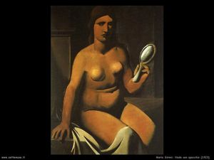 Mario Sironi - Nude with mirror