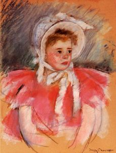 Mary Stevenson Cassatt - Simone in White Bonnet Seated with Clasped Hands (no.1)