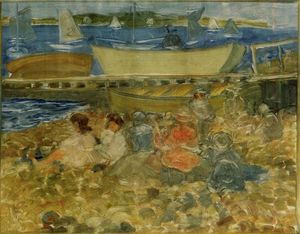 Maurice Brazil Prendergast - Shipyard Children Playing