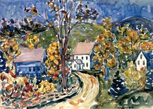 Maurice Brazil Prendergast - Country Road, New Hampshire