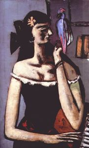 Max Beckmann - Woman with parrot