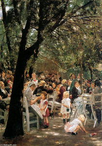 Max Liebermann - Beer garden in Munchen