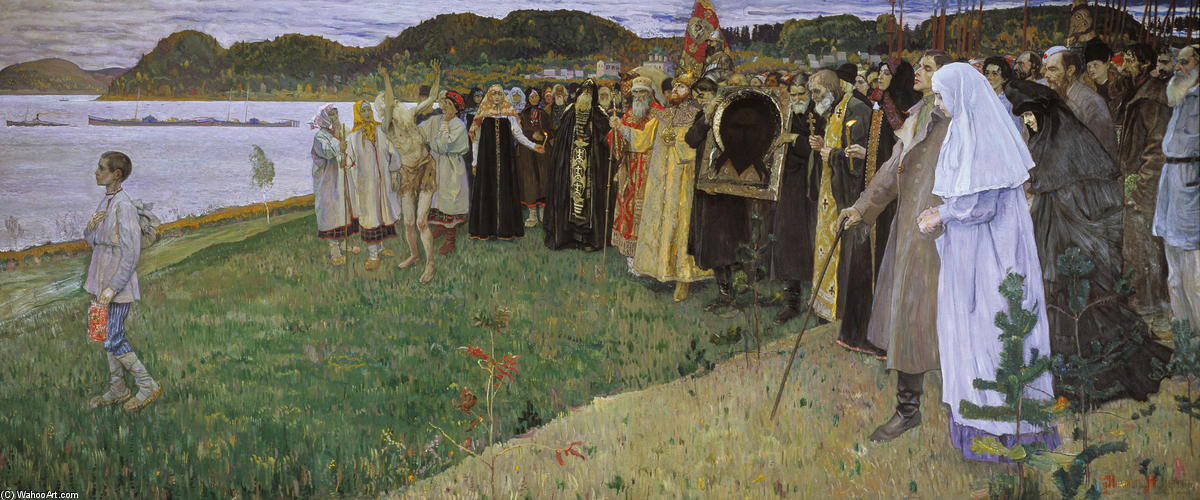Rus: The Soul of the People, Oil On Canvas by Mikhail Nesterov (1862-1942, Russia)