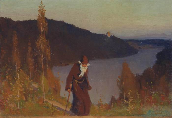 Silence, 1888 by Mikhail Nesterov (1862-1942, Russia)