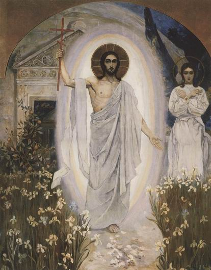 Resurrection, 1892 by Mikhail Nesterov (1862-1942, Russia)