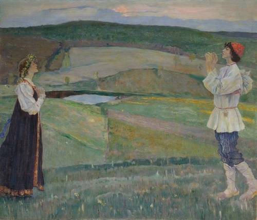 Spring, Oil On Canvas by Mikhail Nesterov (1862-1942, Russia)