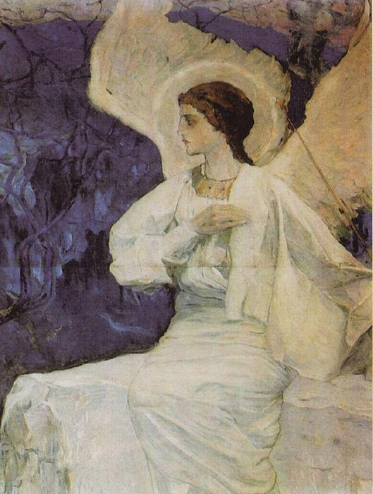 Angel on the Holy Sepulchre by Mikhail Nesterov (1862-1942, Russia)