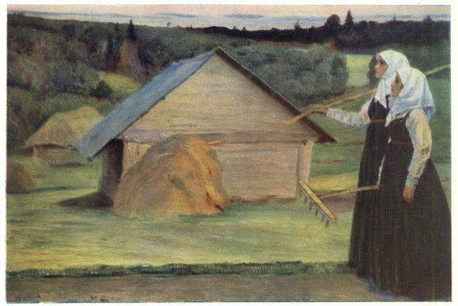 Summer, Oil On Canvas by Mikhail Nesterov (1862-1942, Russia)