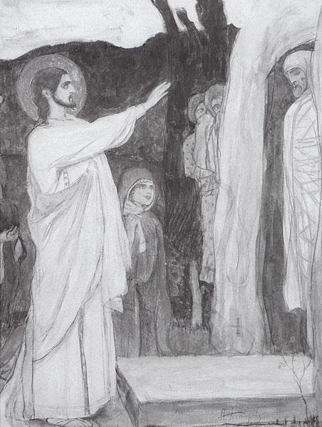 The Raising of Lazarus by Mikhail Nesterov (1862-1942, Russia)