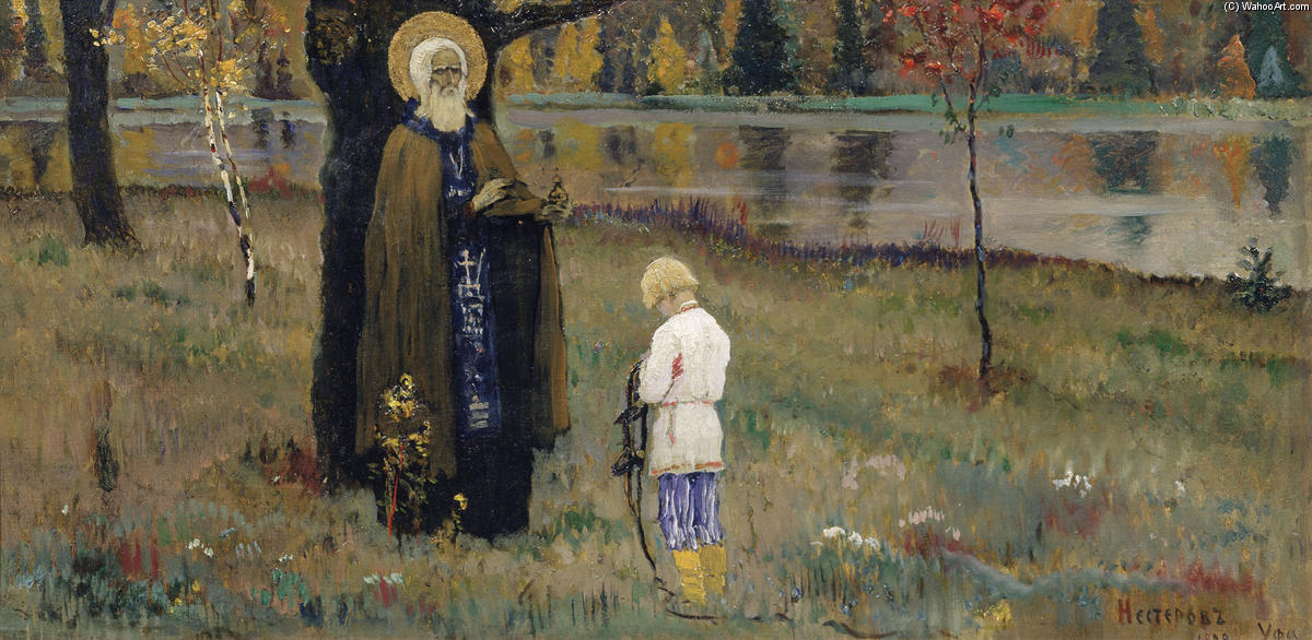 The Vision of the Young Bartholomew by Mikhail Nesterov (1862-1942, Russia)
