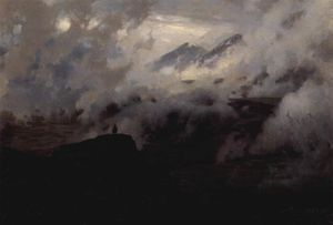Mykola Yaroshenko - Elbrus in the clouds