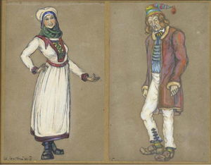Nicholas Roerich - Sketches of costumes for --Peer Gynt--