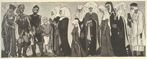Nicholas Roerich - Sketches of costumes for --Sister Beatrice--