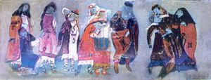 Nicholas Roerich - Sketches of costumes for --Prince Igor--