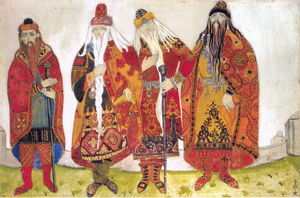 Nicholas Roerich - -Sketches of costumes for --Prince Igor---