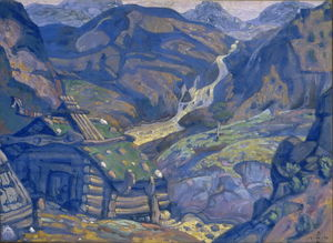 Nicholas Roerich - Mill in the mountains