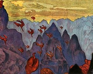 Nicholas Roerich - Study --Cry of the serpent--