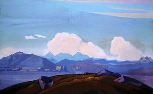 Nicholas Roerich - View of Everest from Tibet