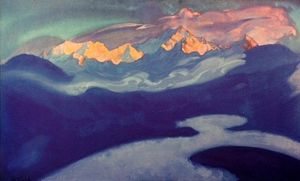 Nicholas Roerich - View of Kangchenjunga from Turpindar