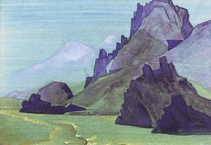 Nicholas Roerich - View of the Himalayan Foothills