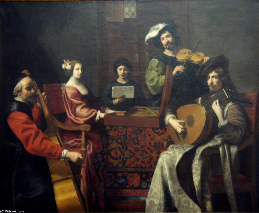 The Concert, Oil On Canvas by Nicolas Tournier (1590-1639, France)