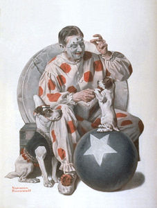 Norman Rockwell - Clown Training Dogs